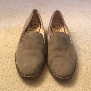 Vince Camuto loafers, gray